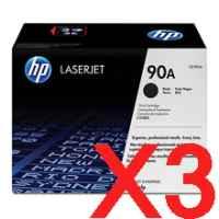 3 x Genuine HP CE390A Toner Cartridge 90A