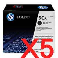 5 x Genuine HP CE390X Toner Cartridge 90X