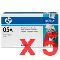 5 x Genuine HP CE505A Toner Cartridge 05A