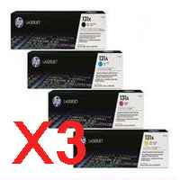 3 Lots of 4 Pack Genuine HP CF210X CF211A CF213A CF212A Toner Cartridge Set 131X 131A