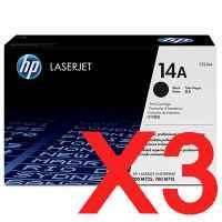 3 x Genuine HP CF214A Toner Cartridge 14A