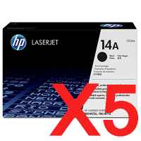 5 x Genuine HP CF214A Toner Cartridge 14A