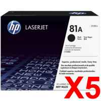 5 x Genuine HP CF281A Toner Cartridge 81A