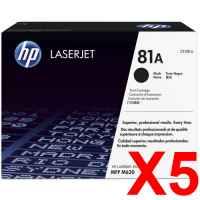 5 x Genuine HP CF281A Toner Cartridge 81A