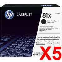 5 x Genuine HP CF281X Toner Cartridge 81X