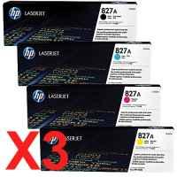 3 Lots of 4 Pack Genuine HP CF300A CF301A CF302A CF303A Toner Cartridge Set 827A