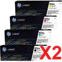 2 Lots of 4 Pack Genuine HP CF310A CF311A CF312A CF313A Toner Cartridge Set 826A