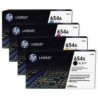 4 Pack Genuine HP CF330X CF331A CF333A CF332A Toner Cartridge Set 654X 654A