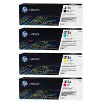 4 Pack Genuine HP CF380X CF381A CF383A CF382A Toner Cartridge Set 312X 312A