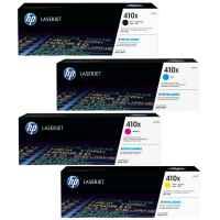 4 Pack Genuine HP CF410X CF411X CF412X CF413X Toner Cartridge Set 410X
