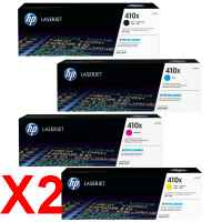 2 Lots of 4 Pack Genuine HP CF410X CF411X CF412X CF413X Toner Cartridge Set 410X