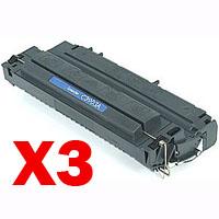 3 x Compatible HP C3903A Toner Cartridge 03A