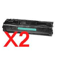 2 x Compatible HP C3906A Toner Cartridge 06A