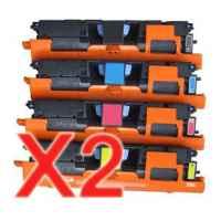 2 Lots of 4 Pack Compatible HP C9700A C9701A C9702A C9703A Toner Cartridge Set 121A