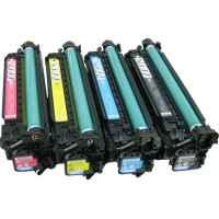 4 Pack Compatible HP CE250X CE251A CE252A CE253A Toner Cartridge Set 504X 504A