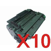 10 x Compatible HP CE255A Toner Cartridge 55A