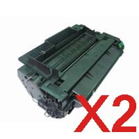 2 x Compatible HP CE255A Toner Cartridge 55A