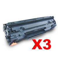 3 x Compatible HP CE278A Toner Cartridge 78A