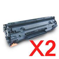 2 x Compatible HP CE285A Toner Cartridge 85A