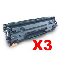 3 x Compatible HP CE285A Toner Cartridge 85A