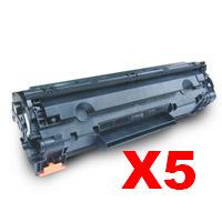 5 x Compatible HP CE285A Toner Cartridge 85A