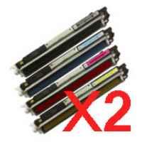 2 Lots of 4 Pack Compatible HP CE310A CE311A CE312A CE313A Toner Cartridge Set 126A