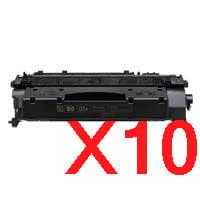 10 x Compatible HP CE505A Toner Cartridge 05A