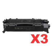 3 x Compatible HP CE505A Toner Cartridge 05A