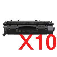 10 x Compatible HP CE505X Toner Cartridge 05X