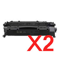 2 x Compatible HP CE505X Toner Cartridge 05X