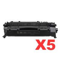 5 x Compatible HP CE505X Toner Cartridge 05X