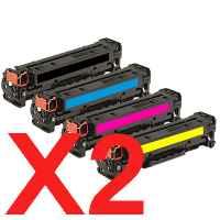 2 Lots of 4 Pack Compatible HP CF210X CF211A CF213A CF212A Toner Cartridge Set 131X 131A