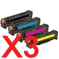 3 Lots of 4 Pack Compatible HP CF210X CF211A CF213A CF212A Toner Cartridge Set 131X 131A