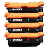 4 Pack Compatible HP CF330X CF331A CF333A CF332A Toner Cartridge Set 654X 654A