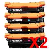 2 Lots of 4 Pack Compatible HP CF330X CF331A CF333A CF332A Toner Cartridge Set 654X 654A