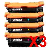 3 Lots of 4 Pack Compatible HP CF330X CF331A CF333A CF332A Toner Cartridge Set 654X 654A