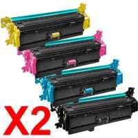 2 Lots of 4 Pack Compatible HP CF360X CF361X CF363X CF362X Toner Cartridge Set 508X