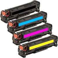 4 Pack Compatible HP CF380X CF381A CF383A CF382A Toner Cartridge Set 312X 312A
