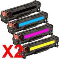 2 Lots of 4 Pack Compatible HP CF380X CF381A CF383A CF382A Toner Cartridge Set 312X 312A