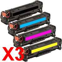 3 Lots of 4 Pack Compatible HP CF380X CF381A CF383A CF382A Toner Cartridge Set 312X 312A