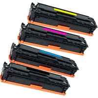 4 Pack Compatible HP CF410X CF411X CF413X CF412X Toner Cartridge Set 410X