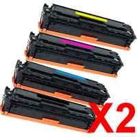 2 Lots of 4 Pack Compatible HP CF410X CF411X CF413X CF412X Toner Cartridge Set 410X