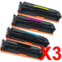 3 Lots of 4 Pack Compatible HP CF410X CF411X CF413X CF412X Toner Cartridge Set 410X