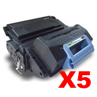 5 x Compatible HP Q5945A Toner Cartridge 45A