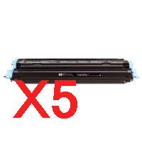 5 x Compatible HP Q6000A Black Toner Cartridge 124A
