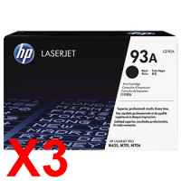 3 x Genuine HP CZ192A Toner Cartridge 93A