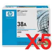 5 x Genuine HP Q1338A Toner Cartridge 38A