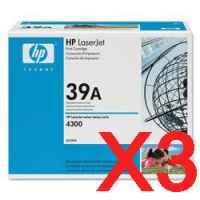 3 x Genuine HP Q1339A Toner Cartridge 39A