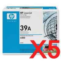 5 x Genuine HP Q1339A Toner Cartridge 39A