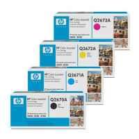 4 Pack Genuine HP Q2670A Q2671A Q2672A Q2673A Toner Cartridge Set 309A
